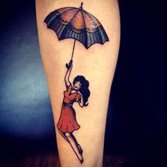 Umbrella & Girl Tattoo; Jemma Jones