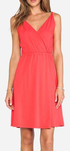 Bobi Supreme Jersey Tank Dress in Berry Red