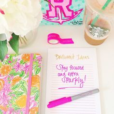 words of the wise Organization Station, School Organization, Preppy Southern, Southern Belle, Cute Office Supplies, School Accessories, New England Style, Justgirlythings, Room Goals