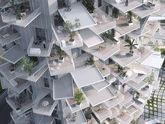 "Galeria - ""L'Arbre Blanc"" - a torre multiuso de Sou Fujimoto em Montpellier - 3"