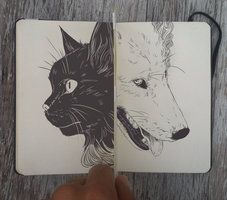 Black and White by 365-DaysOfDoodles