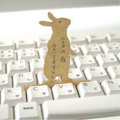 Notas-teclado conejo