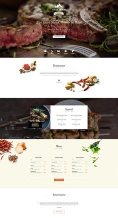 Gavick - Steak House - Joomla Template DEMO Bring the ambience of your pub, brasserie or steakhouse online with this premium food template for eatery websites. Bakery Website, Restaurant Website Design, Restaurant Website Templates, Website Design Company, Best Restaurant Websites, Restaurant Themes, Restaurant Restaurant, Template Web, Joomla Templates