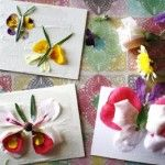 Mod Podge flower petal cards