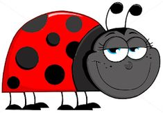 Illustration of Happy Ladybug Cartoon Character vector art, clipart and stock vectors. Stock Foto, En Stock, Lady Bug, Ladybug Cartoon, A Bug's Life, Comic, Vector Art, Vector Kunst, Handicraft