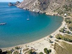 One of Syros beaches, Galissas