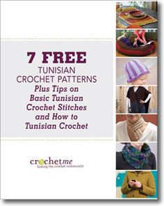 @Libby Bays is offering afree Tunisian eBook,7 Free Tunisian Crochet Patterns Plus Tips on Basic Tunisian Crochet Stitches and How to Tunis...