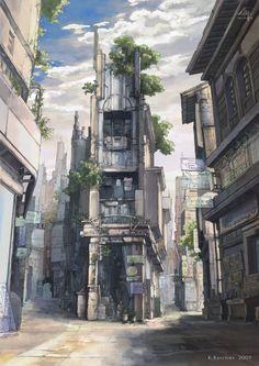 蛇の道商店街(改) 2009年加筆 とその元絵 2008年5月製作 ... - futuristic impression