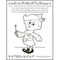 Mouth Healthy Kids -Color with Hermey! #dentist #MILWDDS>> would you like to color with Hermey, Meaghan?
