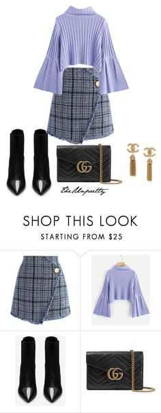 """""""Untitled #1"""" by theunpretty ❤ liked on Polyvore featuring Chicwish, Yves Saint Laurent and Gucci"""