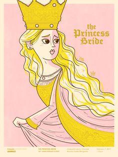 Princess Bride Anniversary Poster for Cinepolis & SquaredCo, Andrew Kolb