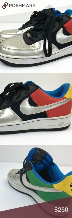 timeless design a6191 6a70f Nike Air Force 1 2004 Olympics 307334-002 Size 9.5 Brand  Nike Description