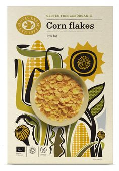 'Doves Farm Cereal packaging design, Studio h, London' by Studio h, London…
