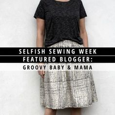 Trine, blogger at Groovy Baby and Mama, made two stunning creations for Selfish Sewing Week. Read  to see her chic Danish style! | Indiesew.com