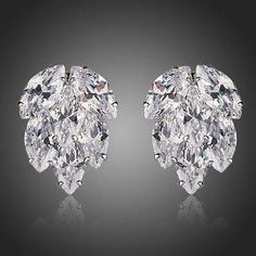 Coupled Cubic Zirconia Cluster Stud Earrings  #fashion #rings #dresses #khaista #jewelry #necklace #womensfashion #earrings #women