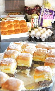Sausage egg and cheese breakfast slider sandwiches with syrup glaze ...