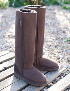 Celt Knee Boots from Celtic Sheepskin Snow Boots, Ugg Boots, Sheepskin Boots, Dress With Boots, Bearpaw Boots, British Style, Fashion Advice, Celtic, Riding Boots