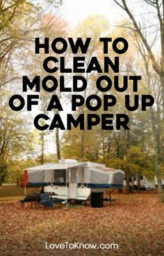 Mold is certainly a common problem with pop up campers. When the canvas part of the camper is set up, it can get wet. If you're not able to dry it before you have to fold the camper up again, the conditions are just right for mold. What's worse, the insip Popup Camper Remodel, Camper Renovation, Camper Remodeling, Camping Checklist, Rv Camping, Camping Ideas, Outdoor Camping, Camping Outdoors, Camping Stuff