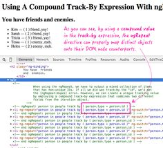 Using A Compound Track-By Expression With ngRepeat In AngularJS http://www.bennadel.com/blog/2920-using-a-compound-track-by-expression-with-ngrepeat-in-angularjs.htm?utm_content=buffer13136&utm_medium=social&utm_source=pinterest.com&utm_campaign=buffer via Ben Nadel