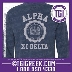 TGI Greek - Alpha Xi Delta - Comfort Colors - Sweatshirt - Greek Apparel  #tgigreek #alphaxidelta #comfortcolors