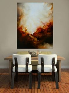 Large Canvas Abstract Oil Painting by by SimonkennysPaintings