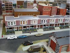 City row houses for a model train garden