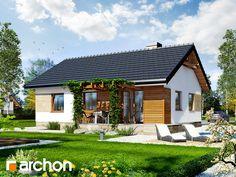 Dom jednorodzinny parterowy , strop płyta żelbetowa , 73.73 m² , 3 pokoje, 1 kuchnia, 1 łazienka, garderoby, kominek