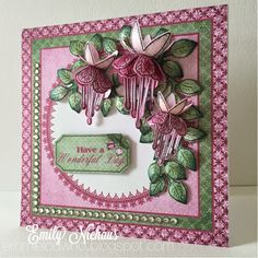 Emmie-Lou Who...Stamps & You!: Heartfelt Creations: Cascading Fuscia debut!