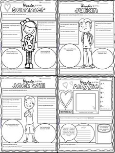 Loser by Jerry Spinelli, Interactive Notebook & Character