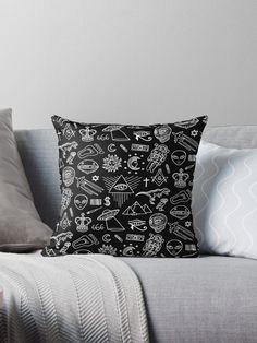 Conspiracy pattern Throw pillow Conspiracy, Graphic, Illustration, Throw Pillows, Patterns, Pattern, Drawing Drawing, Block Prints, Toss Pillows