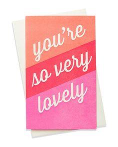 so lovely card