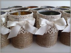 Burlap DIY - looks easy enough to make.... maybe?!