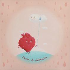 Pet cloud, for Oniric group show at MondoPop, painting by Maria Imaginário, 2012