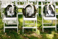 Highland Springs Resort Wedding Ceremony- Memorial Chairs for lost loved ones. Wedding Goals, On Your Wedding Day, Perfect Wedding, Fall Wedding, Wedding Planning, Dream Wedding, Wedding Unique, Wedding Rustic, Wedding Things