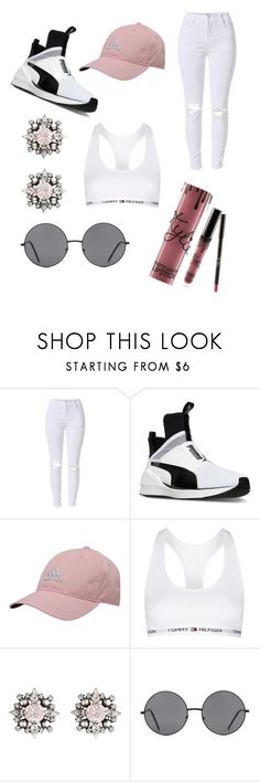 """""""#Outfit187"""" by laeyth on Polyvore featuring mode, Puma, adidas, Topshop, DANNIJO, Forever 21 et Kylie Cosmetics"""