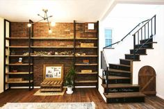 Brooklyn Style, My Room, Bookcase, Stairs, Construction, Shelves, House Design, Interior, Home Decor