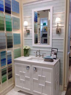 Digital Art Gallery Guest Bathroom Vanity Inspiration from Country Floors showroom