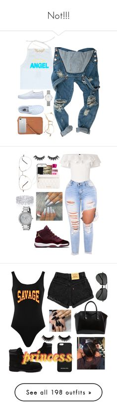 """Not!!!"" by shantee601 ❤ liked on Polyvore featuring Vans, Hot Topic, MICHAEL Michael Kors, Daniel Wellington, Violet Voss, Lisa Marie Fernandez, Graff, Michael Kors, Givenchy and Yves Saint Laurent"
