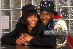1992: Whitney Houston and Bobby Brown Credit: L. Cohen