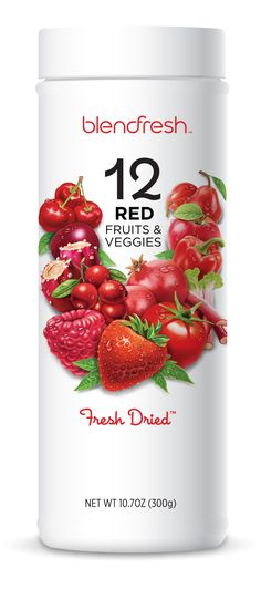 12 Red Fruits & Veggies with every scoop. You cannot beat that. #blendfresh #clean #raw