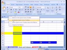 The Excel Basics Series shows a systematic description of what Excel can do from beginning to end. #1 Video topics: 1)What is Excel? Calculating formulas and Data Analysis 2)Rows, Columns, Cells, Worksheets, Sheet Tab Names, Workbook 3)File extensions (file types): .xlsx, .xlsm, .xls, .xlsb 4)Excel 2007 Ribbons 5)Excel 2007 Quick Access Tool Bar (QAT) 6)How to find features in Excel 2007 7)How to add buttons to the QAT Quick Access Toolbar