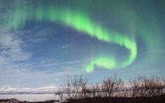 aurora borealis sparked by solar storm