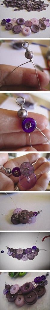 DIY Button Necklace - Just Two Crafty Sisters