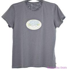 Life Is Good T Shirt Cotton Optimism Short Sleeve Tee Crusher Gray Scoop L  #LifeIsGood #BasicTee