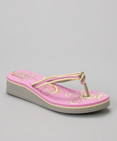 55f9d7ba65075 Pink Ribbon Wedge Flip-Flop - Women by Rockin