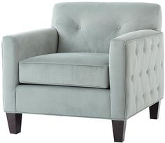 Tufted sides and a fresh hue make this a chair we can't help but love. New purchase for fall? Absolutely. HomeDecorators.com #chair