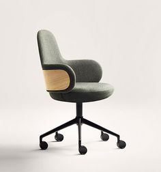 Iratzoki Lizaso design studio is developing a new task chair. Comfort and softness for a relaxed working environment. French Dining Chairs, Antique Dining Chairs, Dining Room Chairs, Table Diy, Work Chair, Round Chair, Home Office Chairs, Diy Chair, Chair Pillow