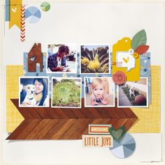 Amy Tangerine's newest line, Ready Set Go.  Great Fall Inspiration.  Must have the pie chart paper from this line!