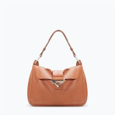 ZARA - SALE - LEATHER CITY BAG WITH GOLD DETAIL - 149.99 12/2014