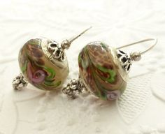 Lampwork Glass Bead Earrings  Made in Canada by uBuNEEKBoutique